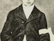 French poet Arthur Rimbaud at the time of his First Communion, age 11 (cropped version of photo)