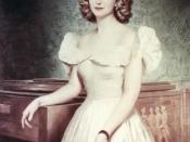 Portrait of Margaret Truman painted by Greta Kempton