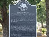 Desdemona Cemetery, Desdemona, Texas Historical Marker