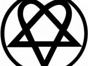 English: Heartagram, logo of HIM (Finnish band); registration refused by the US Copyright Office, upheld on appeal (source)