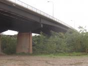 Modern Grays Ferry Avenue Bridge across the Schuylkill River in the Grays Ferry neighborhood in Philadelphia, Pennsylvania,