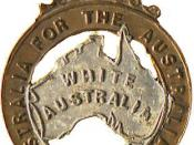 This badge from 1906 shows the use of the expression