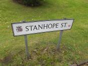 Stanhope Street, Highgate - road sign