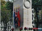 The Cenotaph at Whitehall, London on Remembrance Day 2004