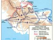 English: Map of engagements along the Kokoda Track in New Guinea. Downloaded from http://www.history.army.mil/brochures/papua/papmap1.jpg from The U.S. Army Campaigns of World War II:Papua Category:Maps of the history of Australia