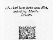 English: Title page of The Revenger's Tragedy.