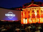 Deutsch: AIRSCREEN auf dem Open-Air Kino in Münster