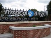 English: Sign outside MSPCA-Angell on South Huntington Ave in Jamaica Plain, Massachusetts. September 2008 photo by John Stephen Dwyer