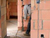 English: Installing electrical wiring