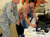 Quality Assurance representative briefs USACE South Atlantic Division Commander
