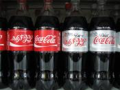English: English and Hebrew Coke labels in an Israeli supermarket.