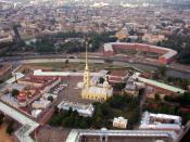 English: Aerial view of Peter and Paul Fortress, St. Petersburg Русский: Петропавловская крепость с вертолёта