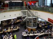 English: Photograph of the Newsroom at BBC Television Centre.