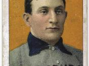 English: The famous Honus Wagner T206 card, circa 1910. Français : La célèbre carte de baseball T206 Honus Wagner.