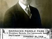 John T. Neufeld, World War I inmate.