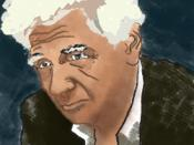 An image of the deceased French philosopher Jacques Derrida.