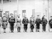 English: Troops of the Eight nations alliance of 1900. Left to right: Britain, United States, Russia, British India, Germany, France, Austria-Hungary, Italy, Japan.