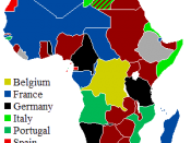 English: Map showing European claims on Africa in 1914