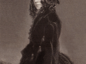 Elizabeth Barrett Browning, photographed September, 1859, by Macaire Havre, engraving by T. O. Barlow.