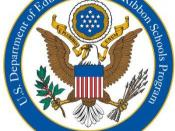 English: 2008 No Child Left Behind Blue Ribbon School Logo