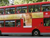 London bus with Pride & Prejudice ad