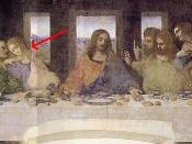 Detail of The Last Supper by Leonardo da Vinci