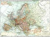 Europe, post Treaty of Versailles. Leslie's New World Atlas.