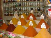 Shop with spices in Morocco