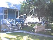 Toilet-papered house