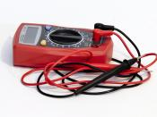 A multimeter can be used to measure the voltage between two positions.
