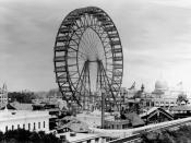 The first Ferris wheel from the 1893 World Columbian Exposition in Chicago.