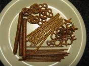 English: Variety of hard pretzels
