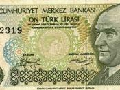 Turkish 10 Lira note.