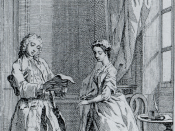 Illustration of Pamela: or, Virtue rewarded. In a series of Familiar Letters from a Beautiful Young Damsel to her Parents by Samuel Richardson (1741)