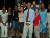 English: August 26: Congressman Rahm Emanuel announces the Juvenile Gun Crime Reporting Act at a meeting with youth and staff from the Uhlich Children's Advantage Network upon the release of their annual Teen Gun Survey.