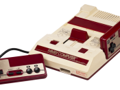 English: A Japanese Family Computer (Famicom) video game console made by Nintendo. This unit was pretty beat up when I took a photo of it.