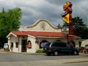 English: Original design for Taco Bell restaurants. Taco Bell in Wausau, Wisconsin