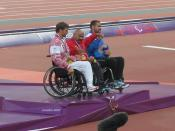 Men's Javelin Throw F54/55/56 Victory Ceremony