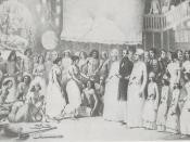 English: Festival of the Goddess Durga at Calcutta by Alexis Soltykoff (1859)