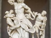 Laocoön and his sons, also known as the Laocoön Group. Marble, copy after an Hellenistic original from ca. 200 BC. Found in the Baths of Trajan, 1506.