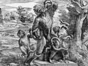 Titian's parody of the Laocoön as a group of apes