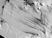 English: Landsat image of the Pine Island Glacier ice shelf, from NASA