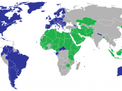 English: Signatories and opposing parties to the UN declaration on sexual orientation and gender identity. Used colors based on Islam and the West.