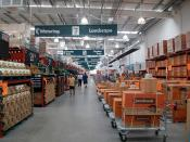 English: Bunnings Warehouse Wagga Wagga interior.