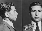 Mugshot of Charles Luciano at 1936,Italian-American mobster