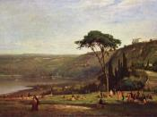 Lake Albano, 1869. Phillips Collection.