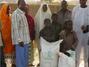 wg5 Fertiliser bags brought along to illustrate annual nutrient amount present in excreta from one rural family in Niger