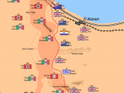 Second Battle of El Alamein, Deployment of Forces on October 23rd, 1942