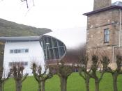 View of the old and both new building at the Napier University Craiglockhart campus, Edinburgh, Scotland.