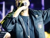 Kanye West performing in Kuala Lumpur, Malaysia.